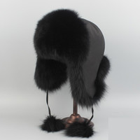 Wholesale red fox hats for sale - Group buy Real Fox Fur Hat or Racccoon Fur Hat Winter Women Fur Cap Russian