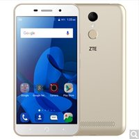 Wholesale Cdma Phone Zte - (ZTE) A602 dual card dual standby all Netcom 4G fingerprint unlock smart phone gold 3000 large battery long standby 3 +32 G memory