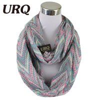 Wholesale Wholesale Endless Scarves - Wholesale-2016 New Design zip Print Scarfs Winter Warm Tube Scarves For Women Endless scarf neckwear V8A18491