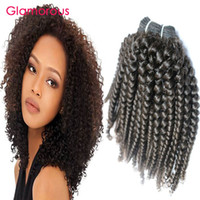 Wholesale Cambodian Kinky Curly Hair - Glamorous Kinky Curly Human Hair Wefts 4 Bundles Curly Brazilian Hair Extensions Factory Direct Cambodian Indian Mongolian Hair Bundles Weft