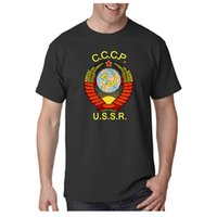 Wholesale Russian Men Clothes - Stylish CCCP Russian T Shirts USSR Soviet Union KGB Moscow Men T-shirt Hip Hop Tshirt Man Harajuku Summer Camisetas Brand-Clothing Top