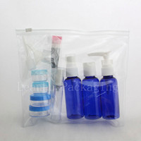 Wholesale airline plastic bag - 50ml lotion spray plastic bottle airlelss perfume travel size bottles set for cosmetics packaging airline carry on toiletry bag