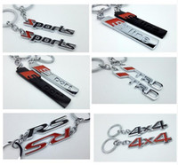 Wholesale 4wd Accessories Wholesalers - Car styling For Ford Benz Toyota TRD AUDI S-line S-sport 4x4 4WD RS New Keyring Keychain Alloy Key Ring Good Quality