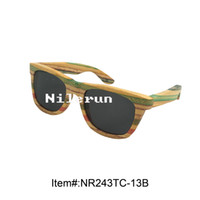 разноцветные солнцезащитные очки оптовых-Multi солнечные очки бамбука нашивки других цветов
