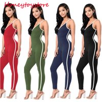 Bodysuit women 2017 New Hot sexy jumpsuit Casual Sexy Tight Trousers Pull  Strip Harness Piece Pants for women c22554730