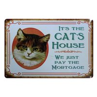 Wholesale Metal Art Items - Wholesale- [ Mike86 ] IT IS THE HOUSE CAT Metal Sign PUB Home bar Decor Vintage Sticker Wall Poster Art 20*30 CM Mix Items AA-441