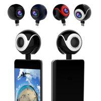 Wholesale Camera Fisheye For Android - Camera Lens Mini Dual Lens Fisheye Panoramic Camera 360 Degrees VR Camera For Android Cellphone Smart phone Samsung LG