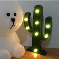 Wholesale Cactus Light D LED Lamp Night Light Table Light Lamp Xmas Home Gardern Decor for Christmas party wedding decoration handcrafted gift