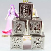 Wholesale Bandai Saint Seiya Cloth - King model Saint Seiya Cloth Bronze 5 Cloth boxes set for Bandai Pegasus Dragon Cygnus Andromeda Phoenix