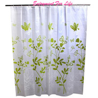 Wholesale peva curtain - Wholesale- 180*180cm Fashion Green Butterfly Thick Waterproof 2016 New Arrival Wholesale Hot Bathroom Shower Curtain Free Shipping Dec 6