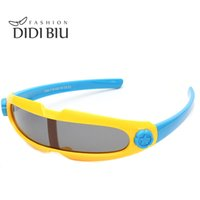 Wholesale One Piece Cases - DIDI Kids Polarized Integrated Safety Sunglasses Baby Brand TR90 Frame Glasses Girls Boys One Piece Eyewear With Case Spectacles Oculos C711