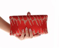 Wholesale wholesale red clutches for sale - 3pcs New Fasion Diamante Diamond Crystal Evening bag Clutch Purse Party Prom Wedding bridal wallet phone case handbag xmas gift