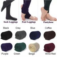 Wholesale super slimming leggings - 3 Styles Fleece Leggings Warm Winter Faux Velvet Lined Legging Thick Slim Leggings Tights Super Elastic Pantyhose CCA7671 300pcs