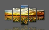 Wholesale Pictures Sunflowers - Modern Fashion Sunflower Frameless HD Canvas Printed Oil Painting by Numbers Wall Art Picture Home Decor for Living Room
