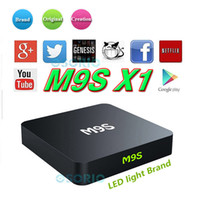 Wholesale android multi media player for sale - Group buy 2017 M9S X1 TV Box Android Smart TV Box Amlogic S905X Quad Core GB GB ROM K G WiFi Multi Media Player