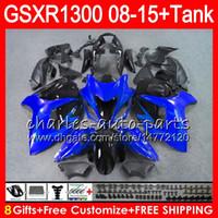 Wholesale Abs Hayabusa Fairings Kit Blue - 8Gifts 23Colors For SUZUKI Hayabusa GSXR1300 08 09 10 11 12 13 14 15 blue black 19NO30 GSX R1300 GSXR 1300 2012 2013 2014 2015 Fairing Kit