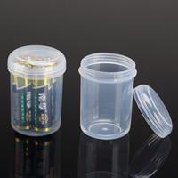 контейнеры для пластмассовых изделий оптовых-Небольшая круглая прозрачная пластиковая коробка ПП коробка продукта упаковка ПП Хранения Коллекции Контейнер Коробка Дело F20171419