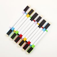 Wholesale Plastic Building Supplies - 6PCS Set Brand New Magnetic Whiteboard Pen Erasable Dry White Board Markers Magnet Built In Eraser Office School Supplies