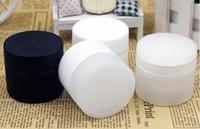 Wholesale Double Layer Cream Bottle - wholesale 100pcs 50g Empty Plastic Cream Jar Semi-transparent Color, 50g Plastic Bottle Double Layer Wall, Cosmetic Packing Container