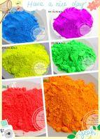 Wholesale Fluorescent Paint Powder - Wholesale- 6 neon Colors Fluorescent Neon Pigment Powder for Nail Polish&Painting&Printing 1 lot= 10g*6colors=60g