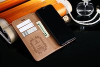 Wholesale Iphone Wallet Retro - Wallet leather flip Magnetic case for iPhone 8 Plus7 6 6S Plus Galaxy S8 Plus S7 S6 Edge N8 Luxury Retro PU book case with Card Slots Cases