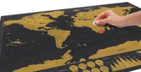 Wholesale 2017 New Deluxe Travel Edition Scratch Off World Map Poster Personalized Journal Log Map Size