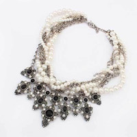Wholesale Trend For Chain Jewelry - Wholesale-New 2015 Hot Pendant Necklace Women Simulated Pearl Jewelry Trends Link Chain Statement Necklaces Water Drop Pendants For Gift