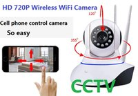 Wholesale wireless cloud camera - HD 720P Wireless WiFi Pan Tilt Network IP Cloud Camera Infrared Night View Motion Detection for CCTV Surveillance Security