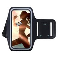 iphone jogging band оптовых-Регулируемый спорт тренажерный зал повязка Сумка чехол для Apple iPhone 5 5S 5C SE 4 4S сенсорный водонепроницаемый Беговая повязка мобильный телефон пояс крышка