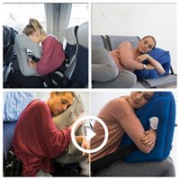 Wholesale 2017 Newest product inflatable travel head pillow Multi function Inflatable traveling pillow neck Air Cushion Neck Rest Plane Flight Pillow