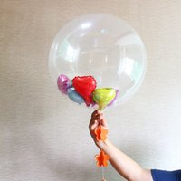 Wholesale Inflatable Baby Shower Decorations - 24 Inch Clear Transparent Inflatable Foil Helium Air Balloons Wedding Baby Shower Birthday Party Decoration ZA4175