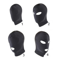 Wholesale Mask Sex Parties - SM Fetish Mask Hood Sex Toys Open Mouth Eye Bondage Hood BDSM Party Mask Hood Headgear Mask Adult Game Sex Products