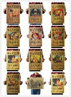 Wholesale One Piece Wanted - ONE PIECE Wanted Vintage Retro Matte Kraft Paper Antique Poster Wall Sticker Home Decora 36*51.5cm (Can be mixed designs)