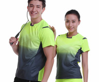 Wholesale Clothing Sportswear Shorts - New Sportswear Quick Dry breathable badminton Wear shirt , Women   Men table tennis shirt clothes team game short sleeve T Shirts