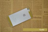 зазор телефона оптовых-Распродажа 100шт 1 мм толщиной тонкий прозрачный акриловый телефон чехлы для iPhone 5 iphone 5s