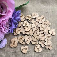 "Wholesale Photography Ornament - 300pcs ""I DO"" Letter Wooden Button Beads For Table Ornaments Wedding Decoration Photography Props"