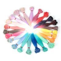 Wholesale Wholesale Bjd Wig - Wholesale-Superior 23 Color Fashion 15 Cm Wholesale Straight Hair DIY   BJD Wig Doll Oct 18