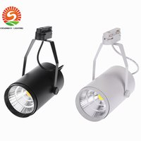 Wholesale Wholesale Led Clothing - 30W AC85-265V 2700LM COB Track Rail LED Light Spotlight Lamp Adjustable for Shopping Mall Clothes Store Exhibition Office Use