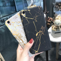 Wholesale Wholesale Oppo Mobile - Golden lines marble pattern phone case For iphone 6 6s 6 plus 6s plus 7 7 oppo vivo plus ABC anti fall mobile phone shell