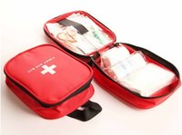 sports emergency care - Hot sale cheap sport First Aid Kit Traveler Emergency red Medical Bag Emergency Survival FIRST AID KIT Bag by DHL