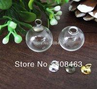 Wholesale Glass Vial Bubble Globe - cap 20sets lot 16mm*4mm glass globe bubble 8mm cap set DIY Glass vial pendant necklace pendant glass bottle dome cover charms