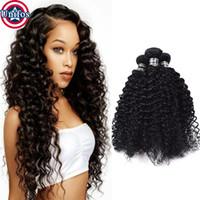 Wholesale Curly Virgin Hair Jet Black - Brazilian Jerry Curl Virgin Hair 3 Bundles Jet Black Kinky Curly Virgin Human Hair Weave Unprocessed Brazilian Virgin Hair Curly
