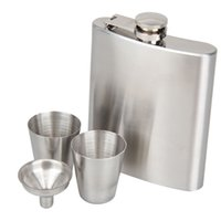 LS4G Portable Stainless Steel 7oz Pocket Hip Flask Alcohol Whisky Liquor Tappo a vite + Imbuto