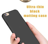 Wholesale apple matting - For iphone7 black Ultrathin Matting cover case Soft Cover Case For iPhone 7 plus 6 plus 6 6s 5 with 100Pcs OPP Package