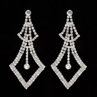 Wholesale Good Crystal Chandelier - 2017 New Good Quality Classic Jewelry Exaggerated Rhinestone Crystal Drop Earring Statement Earrings Gift For Women #E273