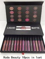Wholesale Make Up Lipstick Long Lasting - 16 Colors  set Matt Lip Gloss Beauty Liquid lipstick Make up Waterproof Long Lasting Lipgloss Trophy Wife Icon Vixen