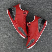 Wholesale Mens Basketball Shoes Best - Retro 3 Grateful WE THE BEST basketball shoes for men Cheap red black grey 3s Sneakers Sport Shoes mens trainers us8-12