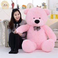 Wholesale Wholesale Big Plush Teddy Bear - Large Teddy Bear Hold Bear Dolls Cartoon Plush Ragdoll Big Bear Comfortable Feel For Birthday Present Multicolor Select 120CM 100mdd I1