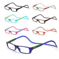 ingrosso occhiali da lettura appesi-Occhiali da lettura magnetici Uomo Donna Trasparenti Occhiali regolabili Collo pendenti regolabili colorati da +1.0 a +4.0