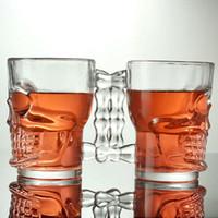 Wholesale Crystal Skull Carving - Crystal Skull Head Glass Cup 500ML Bar Special Purpose Transparent Beer Bottle Bar Party Barware Drinking Mug 5 51yq J R